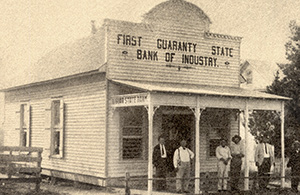 1911 photo of Industry State Bank building
